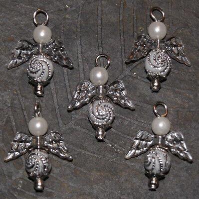 White Sparkles Angel Making Kit Makes 20 Beaded Mixed Pendants Jewellery SPAW