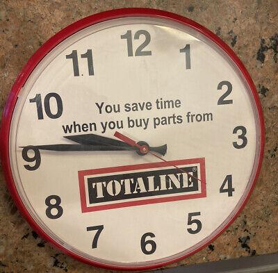 Vintage 1970s 1980s Totaline Parts Plastic Clock 12 1/2in.