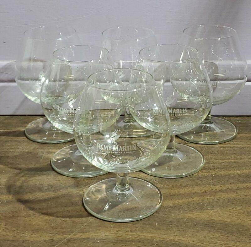 VTG RÉME MARTIN COGNAC SET OF 6 STEMMED/FOOTED SNIFTER GLASSES