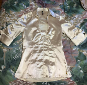 Foxy Jean Satin Blouse Low Neck Used