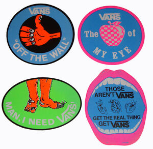 Vans-shoes-retro-anni-80-ADESIVO-assortiti-Skateboard-Surf-BMX-adesivi
