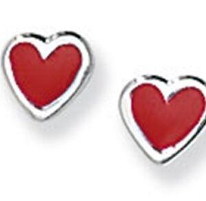 Plata-de-ley-esmaltado-forma-de-corazon-pendientes-de-presion
