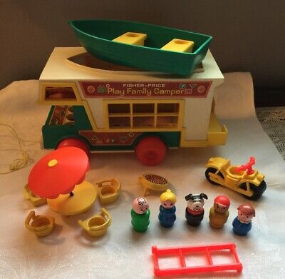Vintage Fisher Price Play Family Camper # 994 All Pictured Very Nice Condition.
