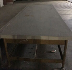 2 -  5ft x 15ft work table/bench