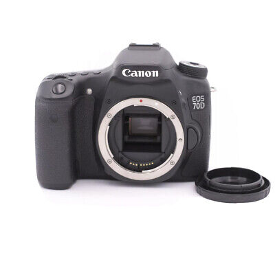 Canon EOS 70D 20.2MP Digital SLR Camera - Black - Body Only