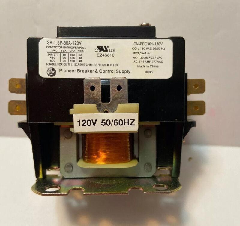 CN-PBC301-120V DEFINITE PURPOSE CONTACTOR 30AMP 1POLE 1200V COIL