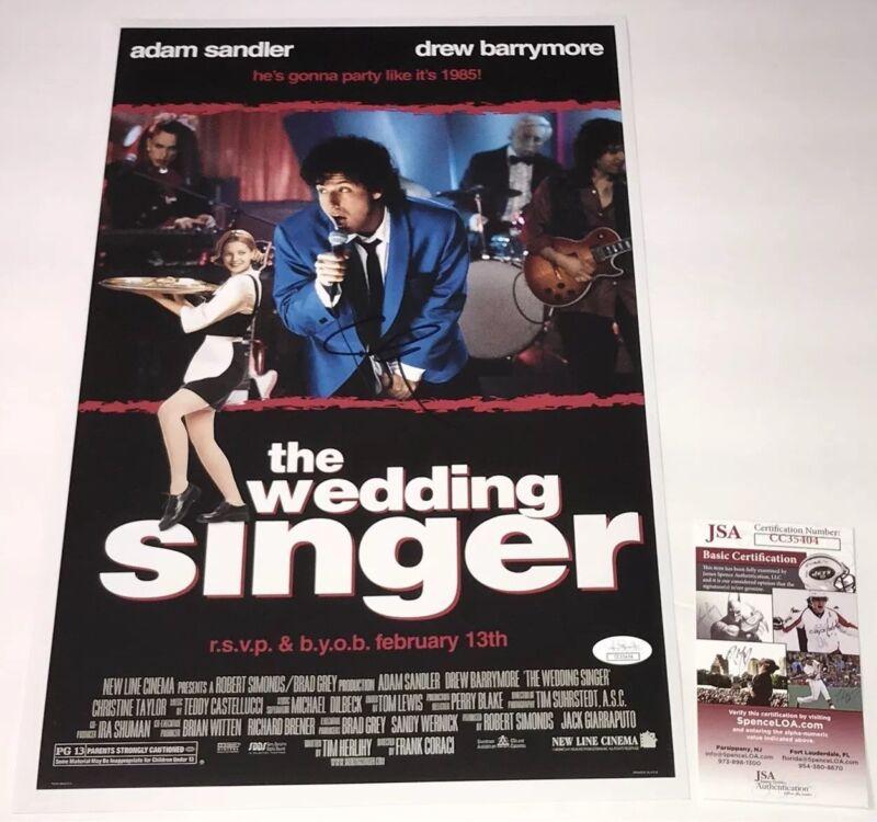 Adam Sandler Signed THE WEDDING SINGER 11x17 Photo IN PERSON Autograph JSA COA
