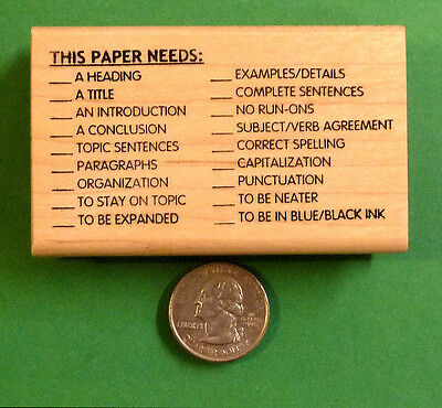 This Paper Needs - Teacher's Writing/Composition Rubber Stamp