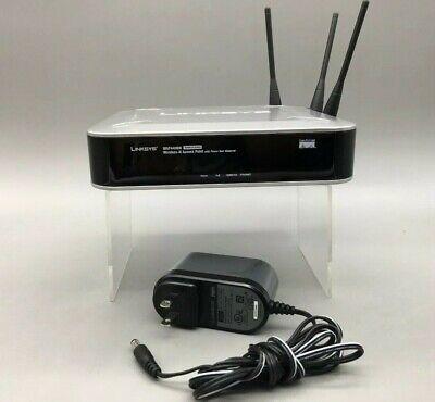 Linksys WAP4400N Wireless-N Network Access Point + PoE w/ AC Adapter - -