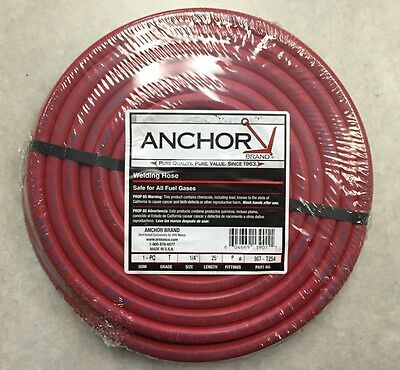 25ft X 14 Twin Welding Hose Oxygen Acetylene Grade T B Fittings