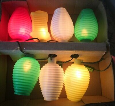 Vintage Noma PATIO PARTY Lantern Camp Lights shades 1960s blow mold lot 7