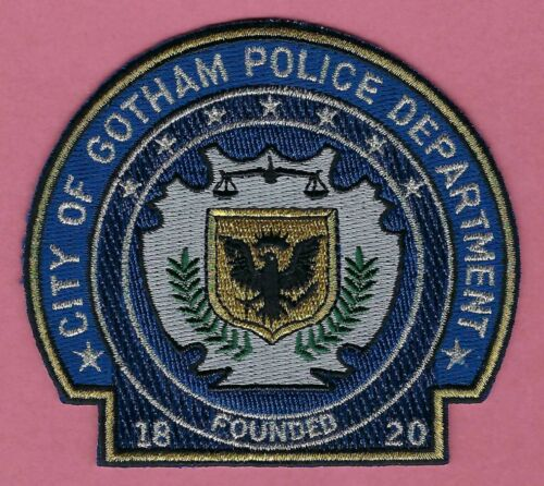 GOTHAM CITY POLICE SHOULDER PATCH 1820 BATMAN