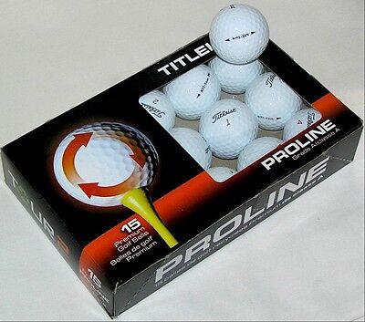15 Titleist NXT Tour golf balls  - Premium AAAAA Grade  LOT 88192