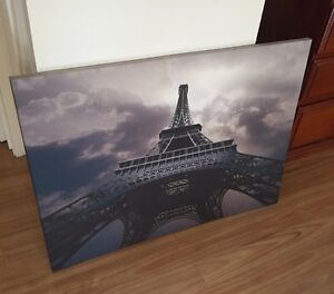 Paris Eiffel Canvas * Pick Up Today * Hoppers Crossing Wyndham Area Preview