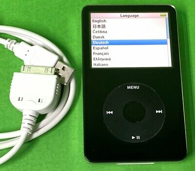 Apple iPod CLASSIC (5. Generation) MP3-/Video-Player 80 GB schwarz *Gepflegt* Ipod Classic Video Mp3-player