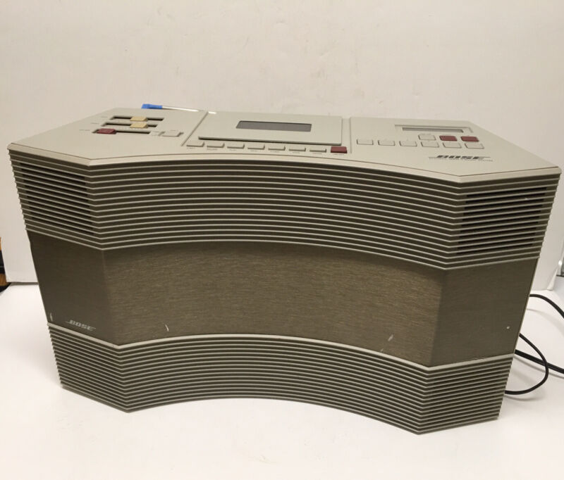 Bose AW-1 Acoustic Wave Music System AM/FM Cassette Works No Remote