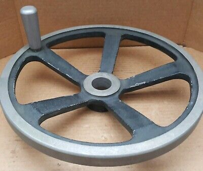 Jergens 14 Hand Wheel With Handle 1-78 Bore 5-spoke Cast Aluminum Alloy
