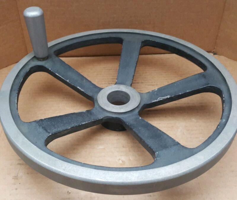 "Jergens 14"" Hand Wheel with Handle | 1-7/8"" Bore | 5-Spoke | Cast Aluminum Alloy"