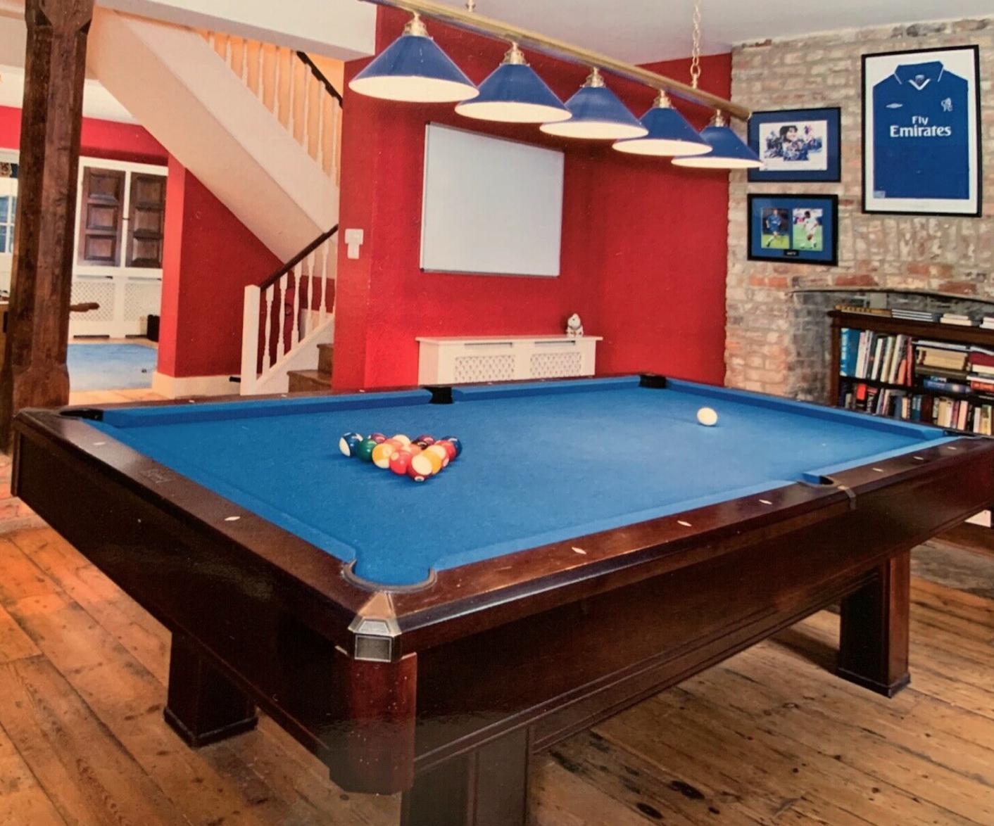 Brunswick 8 foot Solid Mahogany American Slate Pool Table