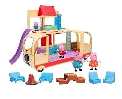 NIB New Peppa Pig's Transforming Campervan Playset RV  ()