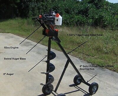 Mobile Post Hole Digger W8-inch Auger