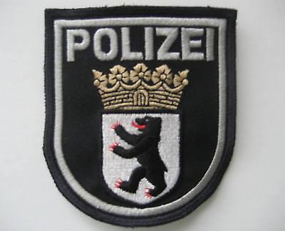 Ärmelabzeichen BERLIN , blau , mit Klett