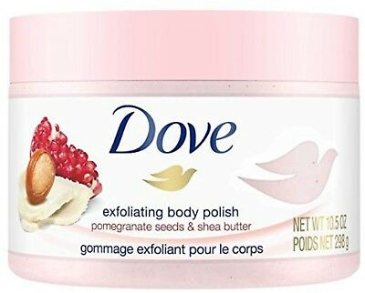 Dove Exfoliating Body Polish Body Scrub, Pomegranate & Shea