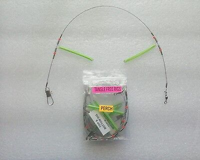 RISKO'S TANGLE FREE PERCH RIG (2 hook) (3PACK)