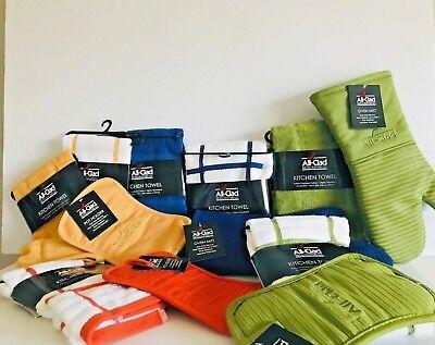 -  ALL-CLAD Kitchen Terry Towel Sets Oversz Pot Holder/Mitt U Pick Combo Color NWT
