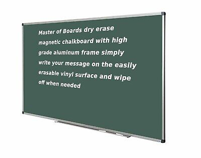 Green Magnetic Chalk Board Chalkboards Aluminium Framed 44