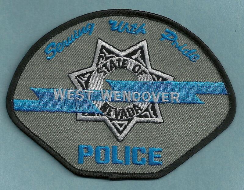 WEST WENDOVER NEVADA POLICE SHOULDER PATCH