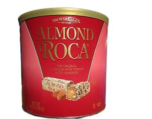 Almond Roca Buttercrunch Toffee w/ Almonds 100% All Natural 42oz Canister, New