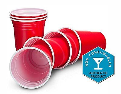 PACK OF 50 RED American Party Cups 16oz Disposable Party Cups