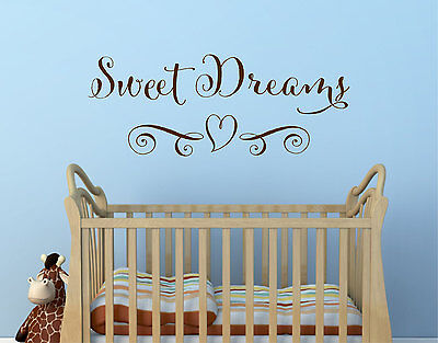 irls Decor Wall Art Decal Quote Words Lettering Sticker (Sweet Dream Girls)