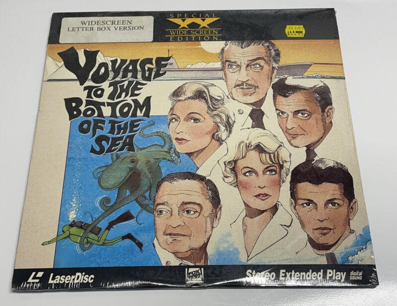 Voyage to the Bottom of the Sea (1961) Laserdisk - WS - Sealed