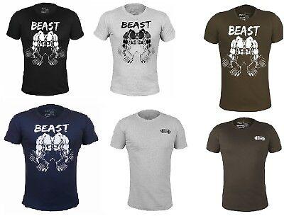 Mens Gym Bodybuilding MMA Motivation T-Shirt Best Workout Clothing Training