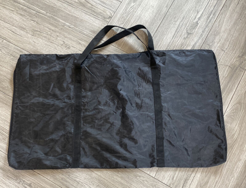"Large Full Zip Carry Bag Hobby Arts Crafts Tote Black Carryall  37"" by 22"""