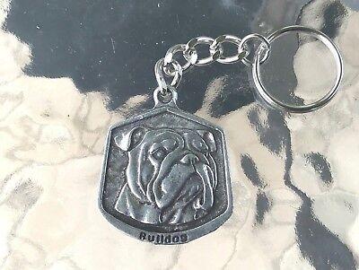 Best Friend Keychains (Mans Best Friend HOME PET ANIMAL 1 BULLDOG PEWTER KEY CHAIN)
