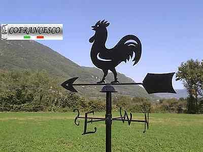 Gallo Galletto segnavento grande in ferro con banderuola cardinale 130x75