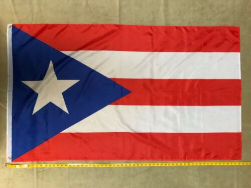 Puerto Rico Rican Dark Blue Weather Resistant Poly Flag 3X5