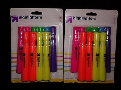 New 10 Pack 2 20 Chisel Tip Highlighters - Multi-color