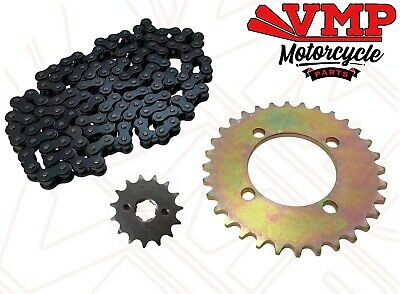 <em>YAMAHA</em> PW80 CHAIN AND SPROCKET SET REAR 32T   FRONT 15T DRIVE