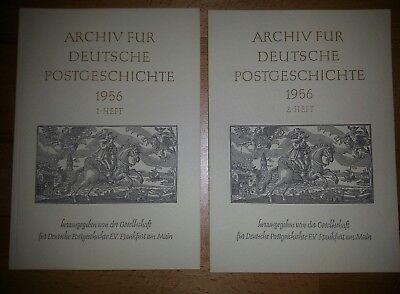 Archiv für Deutsche Postgeschichte 1956 1. Heft und 2. Heft