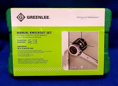Greenlee 735bb Knockout Punch Kit 12-inch To 1-14-inch Conduit Size