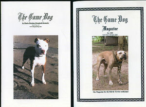 dogs pit bull terriers game 2 x books american staffordshire Mario