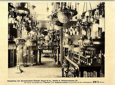 Neuheit Kronleuchter (Neuheiten-Reklameverkauf Kronleuchter Fabrik Siegel & Co.Berlin S. von 1913)
