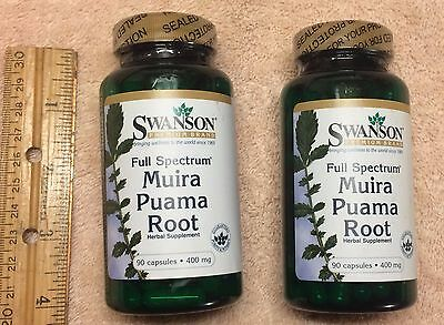 ((2) Muira Puama Root, from Swanson >>> 180 capsules (total),  400 mg each)