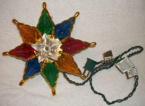 Vintage 1993 Bob Ho Multi-Colored STAR Christmas Tree TOPPER Beautiful Free Ship