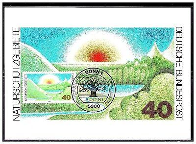 Naturschutzgebiete , MK 1980, Mi-Nr: 1052 , ESST Bonn - Bundesdruckerei