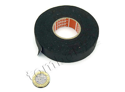 TESA 51026 Smooth PET Cloth Car Wire Loom Harness Tape Oil Fuel Heat Resistant